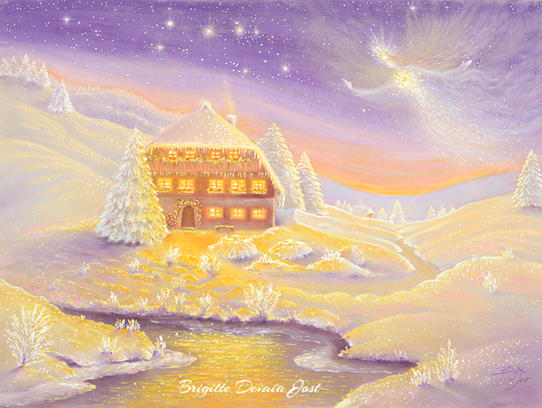 Brigitte Devaia Jost Winterzauber Engel winter magic angel
