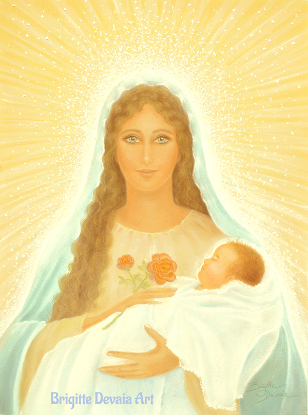 Brigitte Devaia art Mutter Maria Madonna Meisterin der bedingungslosen Liebe Mother Mary master of unconditional love